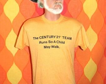 vintage t-shirt century 21 realtor team easter seals ALABAMA tee shirt Medium charity gold