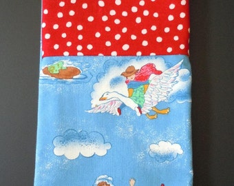 Mother Goose Travel Pillowcase- Free US Shipping