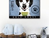 Dalmatian Coffee Company original illustration graphic art on gallery wrapped canvas by stephen fowler