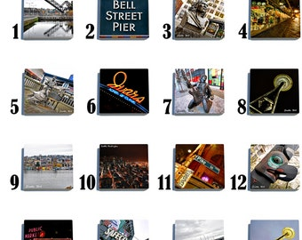 Seattle, WA Stone Coaster Set - Pick any 4 images - 16 to choose from