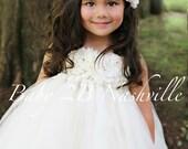 Wedding Dress Floral Ivor...