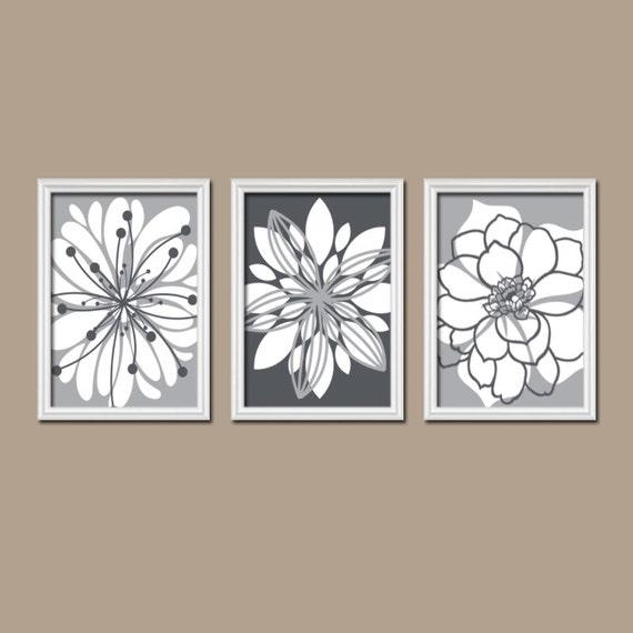 Gray wall art canvas or prints gray bathroom artwork by for Gray wall art for bathroom
