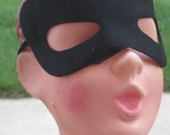 Vintage Doll Head Halloween Decor (from Lawn Ornament Choir Boy) Wearing Black Eye Mask Steampunk (4170-W