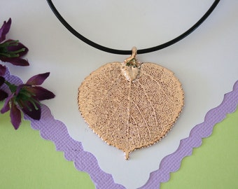 Aspen Leaf Rose Gold, Real Leaf, Aspen, Oak Leaf, Pink Gold, LL29