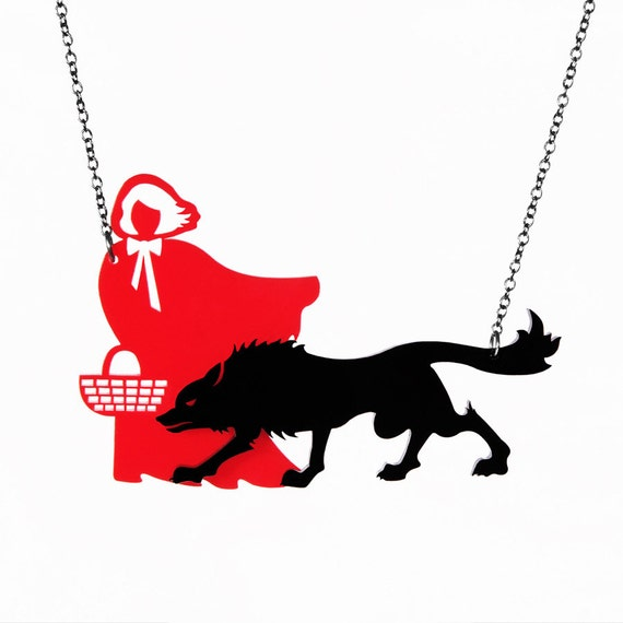 Little Red Riding Hood Necklace - Laser Cut Necklace (C.A.B. Fayre Original Design)