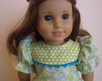 Home Made Dress for American Girl Doll and Hair Bow