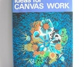 Vintage Craft Book - Canvas Work - Embroidery - 1970s - Hipster - Abstract - Modernist - Pattern Design