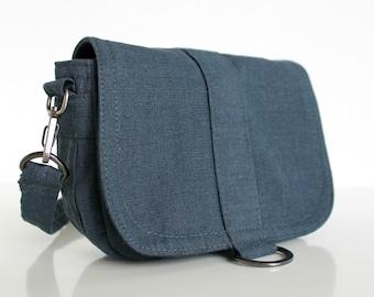 Organic Canvas Bag, Organic Canvas Pouch, Organic Canvas Hip Bag - The Minus Saddle Pouch in Organic Graphite
