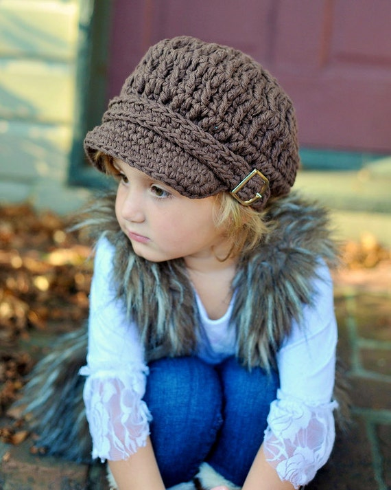 Toddler Newsboy Hat 1T to 2T Toddler Girl Newsboy Cap Toddler Girl Hat Chocolate Brown Toddler Hat Toddler Boy Newsboy Toddler Boy Hat