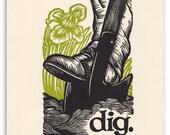 dig.  an 11x14 letterpress print.