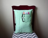 Nerd Pocket Pillow // Men's Shirt Pillow // Pi // Calculator // Nerdy Pillow // Nerdy Cushion // Geek Pillow // Math Pillow // Accountant