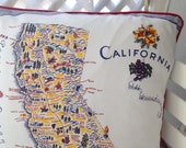 California Pillow Cover _ Blue
