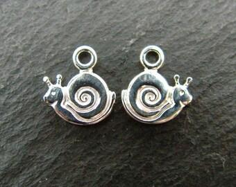 Sterling Silver Snail Charm 9mm (CG6319)