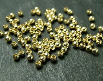 20pcs Gold Filled Plain Bead 2mm (CG2177)
