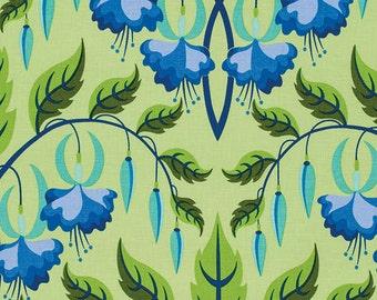 Jane Sassaman Fuchsia Flower Periwinkle fabric 1 yard