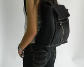 Sale Sale Sale 30% off - Tanya in Black backpack/Satchel Rucksack/Leather backpack/canvas backpack /Tote / Unisex / School bag
