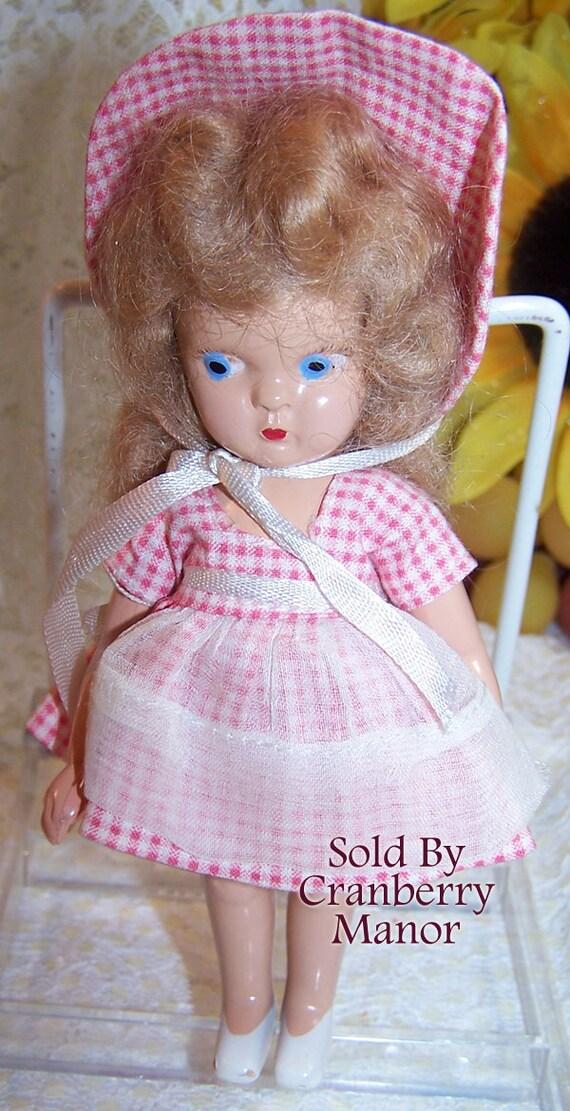 Virga storybook doll playmates doll original pink gingham dress