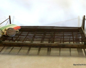 1800s Miners Bed, Metal & Wood Cot, California Gold Mining History