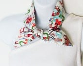 Retro Merry Midtown Head Scarf / Hair Accessory / Neck Scarf / Handbag Adornment / Hair Scarf / Gift Under 15