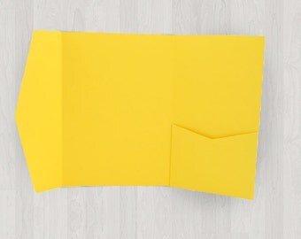 10 Vertical Pocket Enclosures - Yellow - DIY Invitations - Invitation Enclosures for Weddings and Other Events