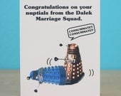 Dalek Doctor Who wedding card - sci-fi - funny - nuptials - humorous