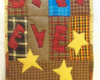 BELIEVE, 12 x 17 quilted wall hanging