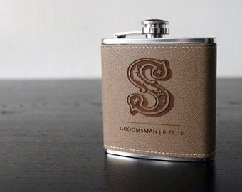 Flask | Customizable BRAND design, multiple quantities for groomsman gift