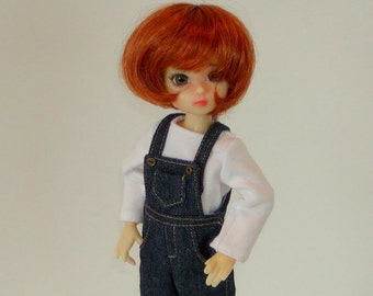 Denim Overalls -  fit Wiggs Tiny BJD & similar Tiny Ball Jointed Dolls