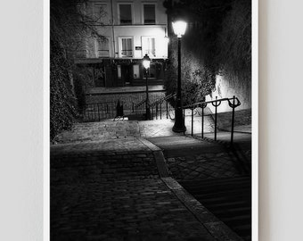 "Paris Print, Black and White Photography, ""Paris Noir 8"" Extra Large Wall Art, Fine Art Print Paris Photography, Film Noir"