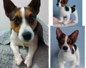Custom Pet Portrait needle felted dog soft sculpture memorial animals