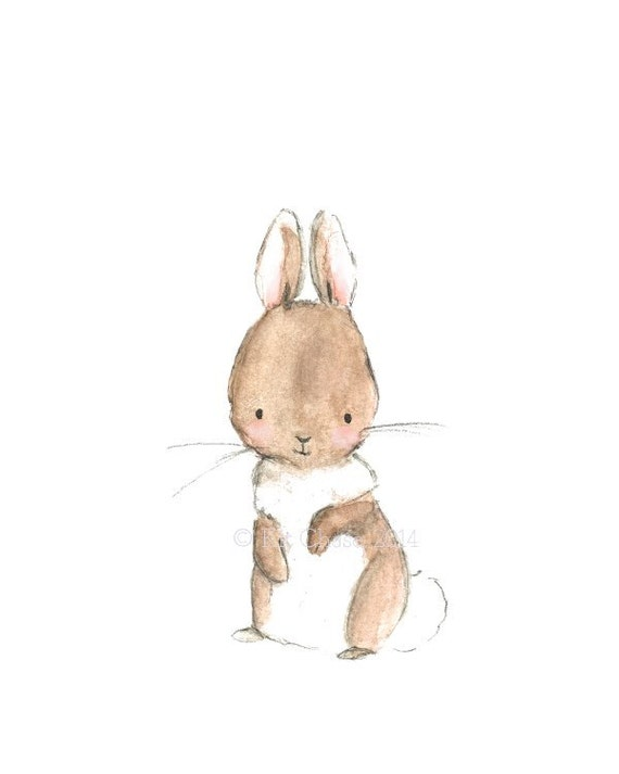 "Children's Art -- ""BUNNY"" -- Archival Print"