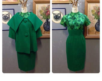 50's emerald dress suit.