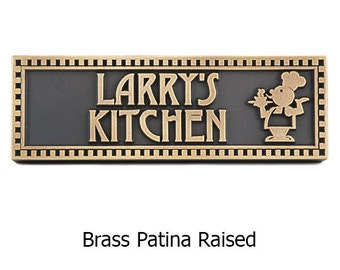 Chef Plaque Personalized for the Foody 12x4 inches by Atlas Signs and Plaques