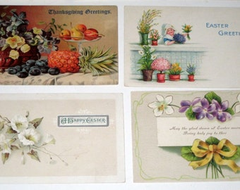 10 Antique Postcards  - Various Themes - for Collecting, Altered Art, Scrapbooking, Crafts