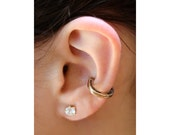 Horseshoe Ear Cuff - Good Luck Horseshoe Ear Cuff - Bronze Ear Cuff Horseshoe Jewelry - Helix Cuff - Horseshoe Earring Non Pierced Earring