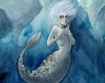 Arctic Mermaid - 8x10 print