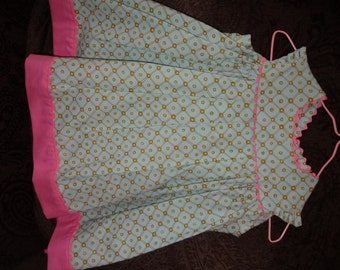 Cotton Summer Baby Dress with Butterfly Sleeves