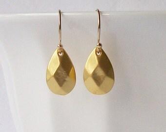 Small Gold Drop Earrings