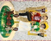 Football Personalized Wedding Cake Topper