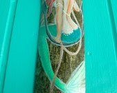 Mermaid sitting on a Anchor- Hand Painted Driftwood- Mermaid Art Fantasy Beach-