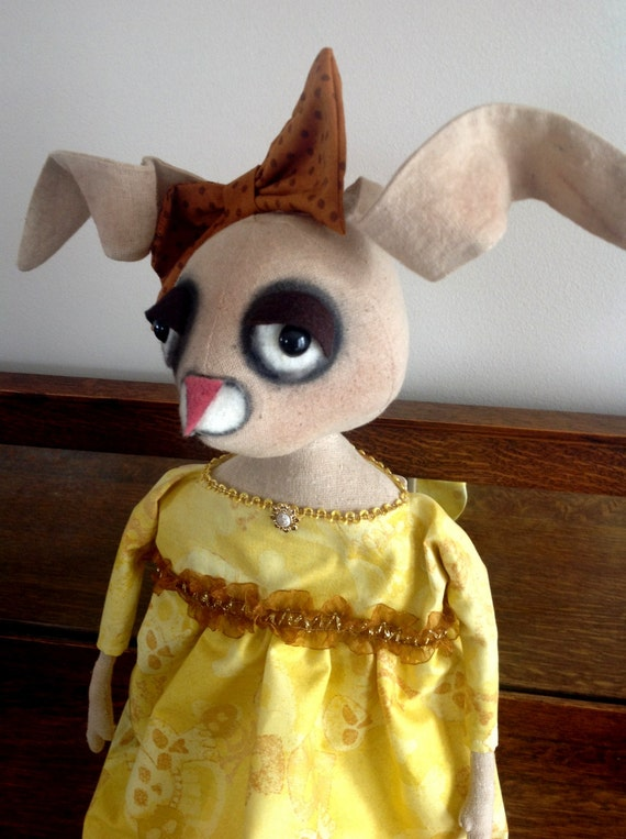 Primitive Folk Art Bunny Doll