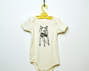 Organic Deer One-Piece - Violet & Natural