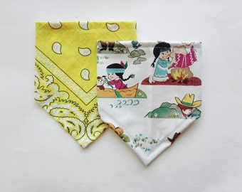 Bandana Bib for Baby - Cowboy Set, Bibdanas, Baby Shower Gift