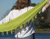 Leafing for Spring sideways crochet cotton scarf / shawl pattern - pdf - by anastacia knits designs