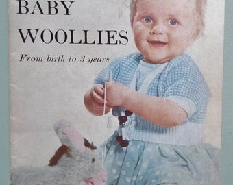 Vogue Baby Woollies From birth to 3 years 1950s Vintage Vogue Knitting Patterns Book UK 50s original patterns retro babies clothes layette