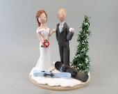 Customized Winter Theme Wedding Cake Topper