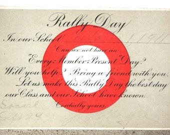 Vintage Postcard Rally Day Sunday School 1911