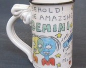 Behold! The Amazing Gemini. mug. 12 ounce.