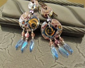 Fringed Porcelain Bohemian Earrings