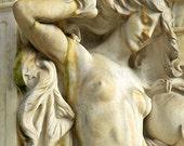 Rustic Elegant Art Nouveau Print,  Female Nude Goddess Statue Fountain, Washington DC Architecture Art, Rustic Wall Art, Boudoir Art